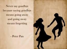 goodbye peter pan