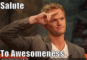 salute to awesomeness