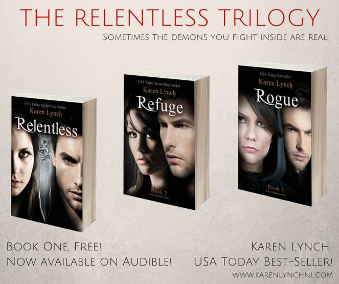 Relentless Trilogy  Graphic Tan Background